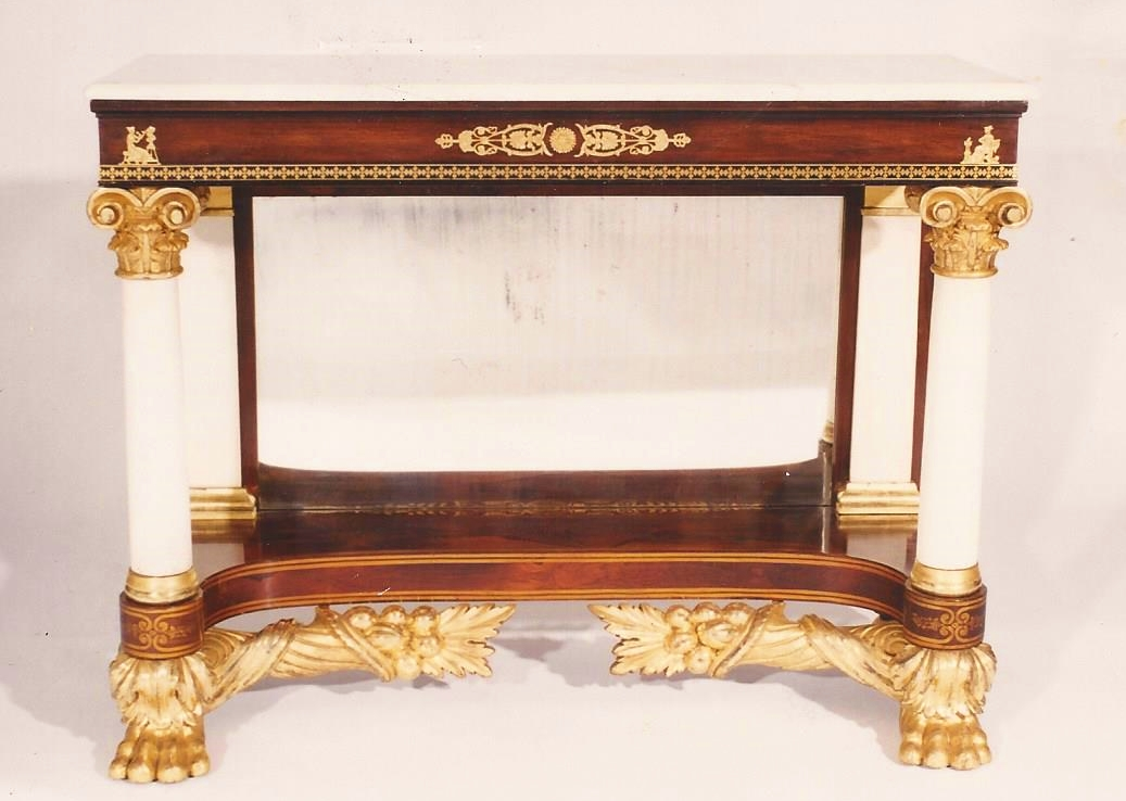 Photograph Of An American Empire Pier Table. J. Formerly At Chicora Antiques,  Columbia