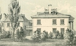 Eliza Jumel's home, The Jumel Mansion, in 1854.